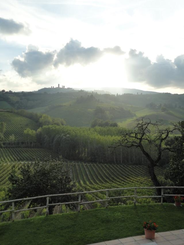 View of San Gimignano from La Lucciolaia