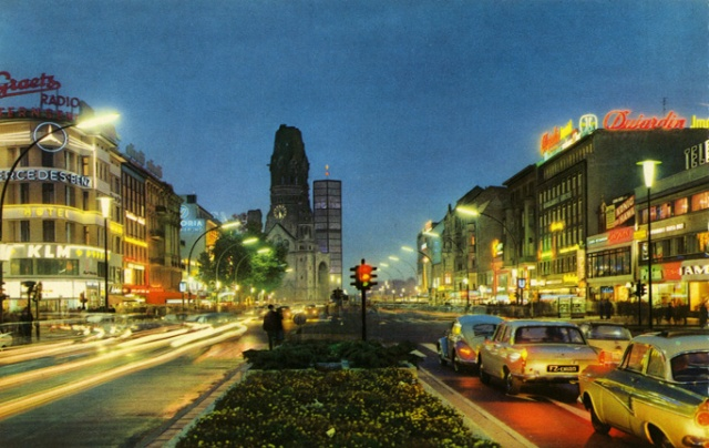 Berlin's Ku-Damm by night