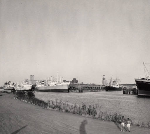 Freighters at the Port of Stockton