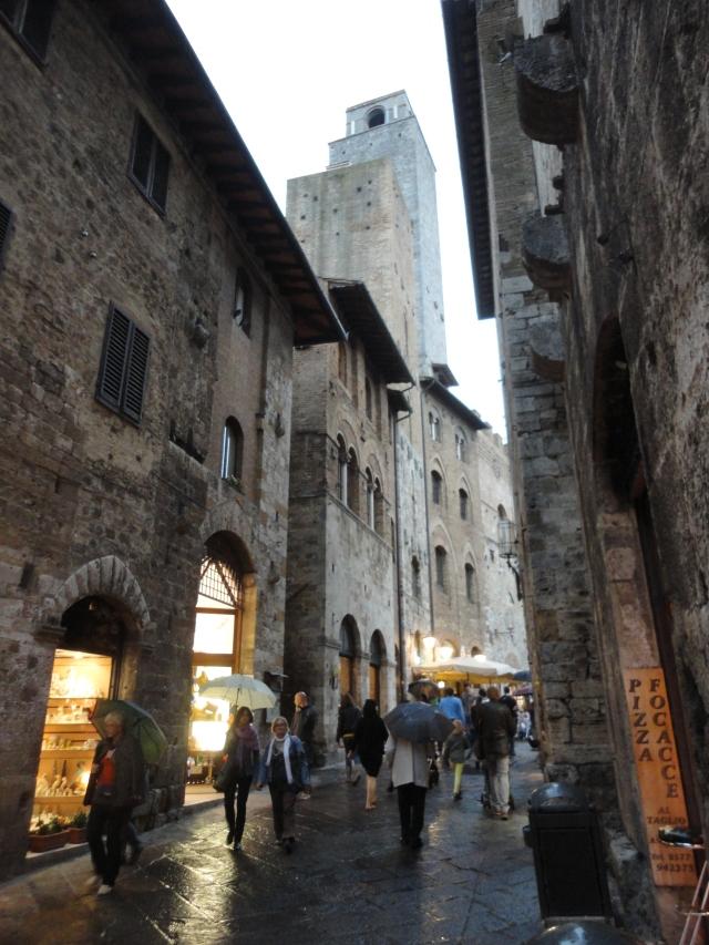 San Gimignano in the Rain